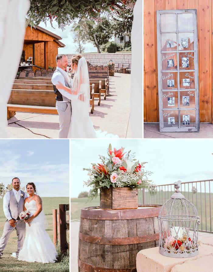Hochzeit Holzdeko