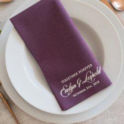 Servietten lila Hochzeit