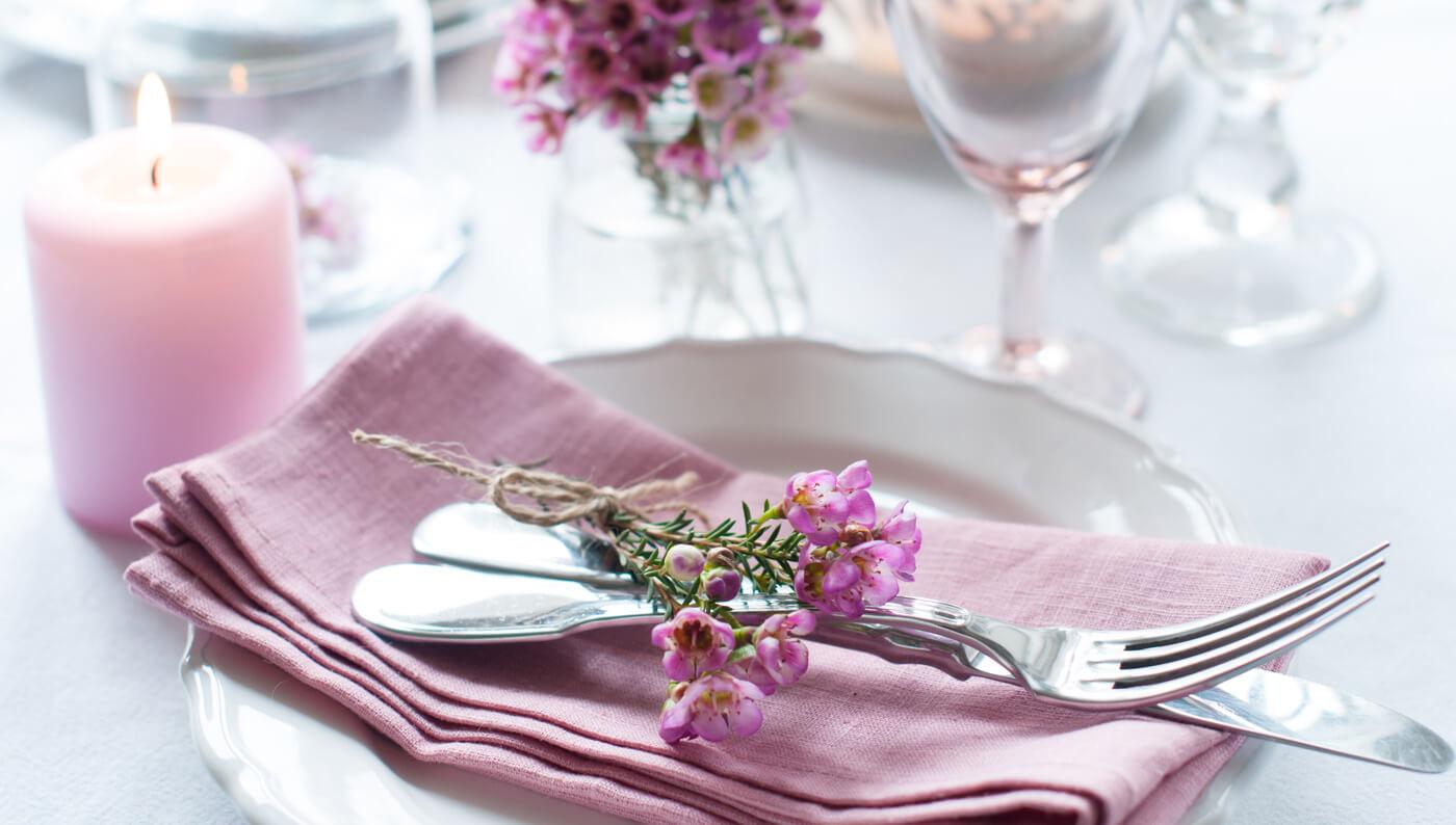 Rosa Tischdeko Hochzeit