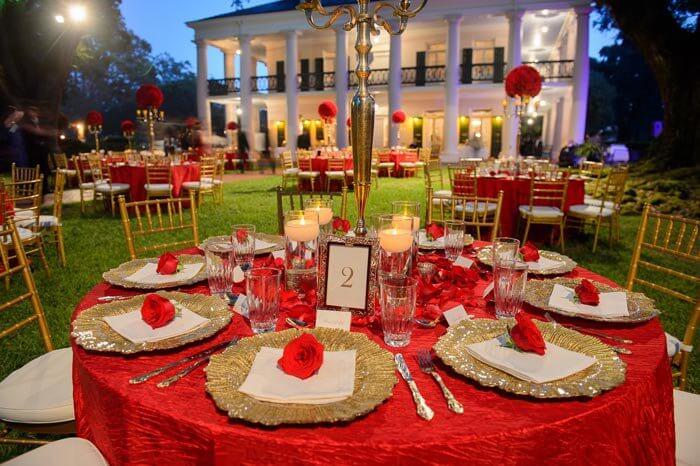Hochzeitsfarben Rot & Gold