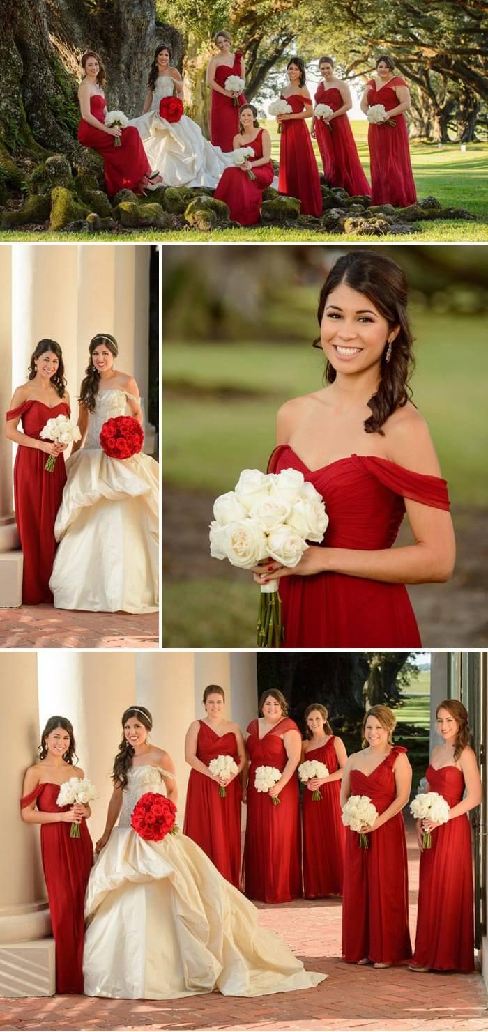 Rotes Kleid zur Hochzeit