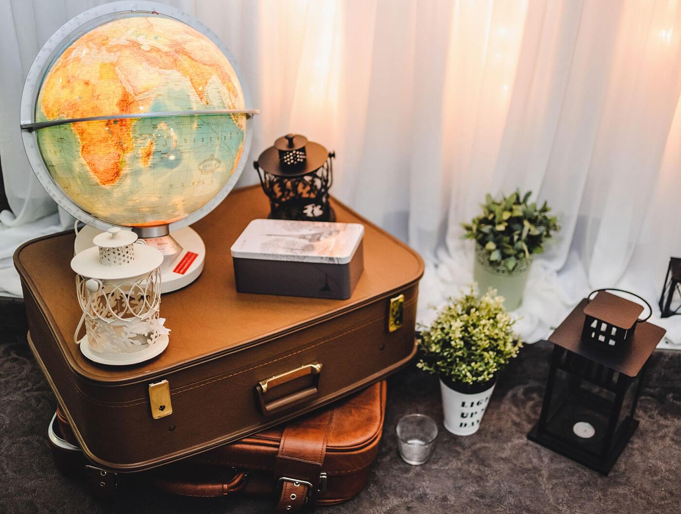Hochzeitsdekoration Reisen