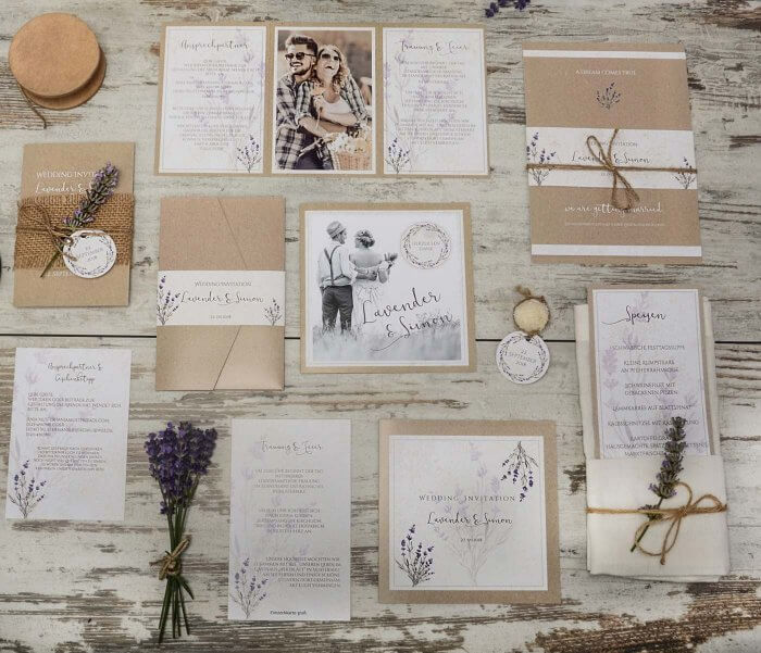 Hochzeitseinladungen Landhausstil