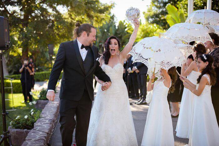 Märchenhochzeit Brautpaar