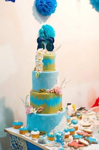 Maritime Hochzeit Torte