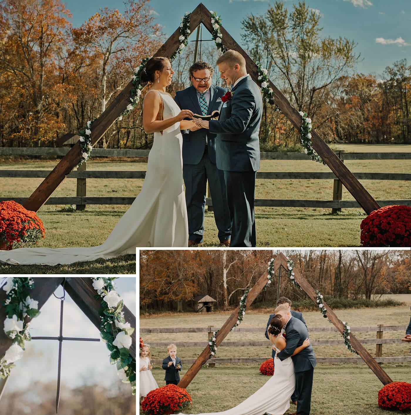 Blumenbogen für Hochzeit
