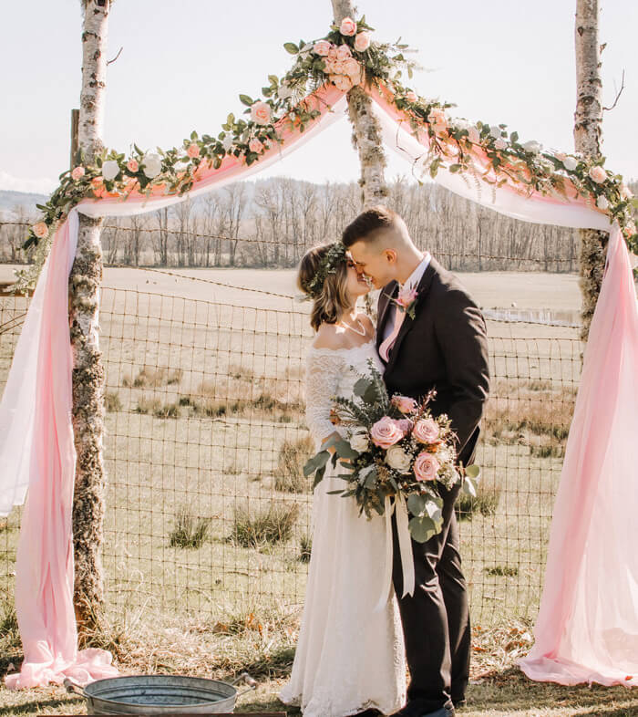 Bogen für Hochzeit