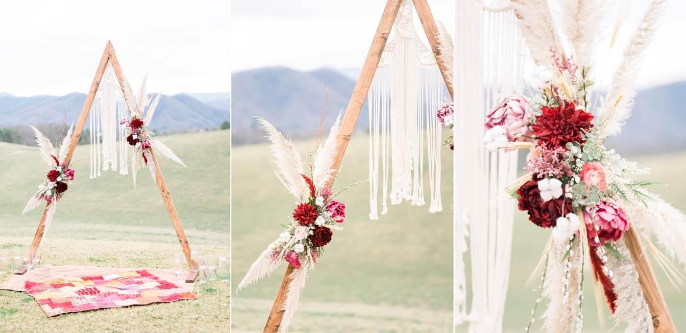 Hochzeitsbogen Pampasgras