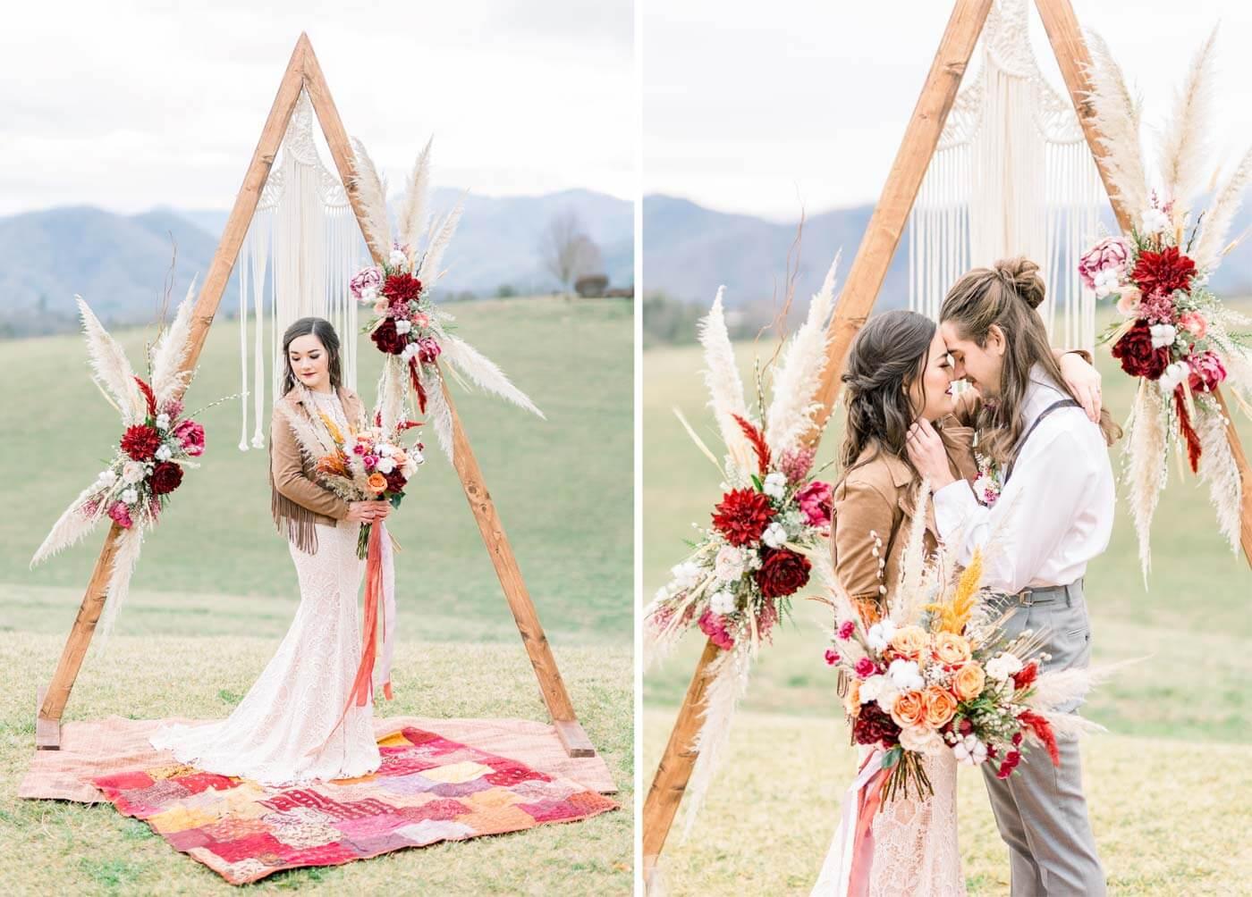 Pampasgras Hochzeitsbogen