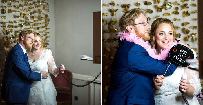 Hochzeit Fotobox Brautpaar