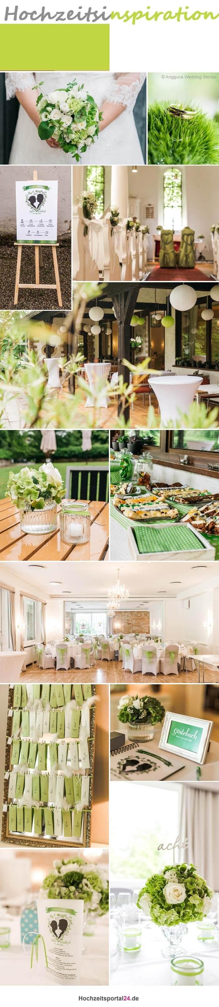 Hochzeitsfarben Grün Weiß