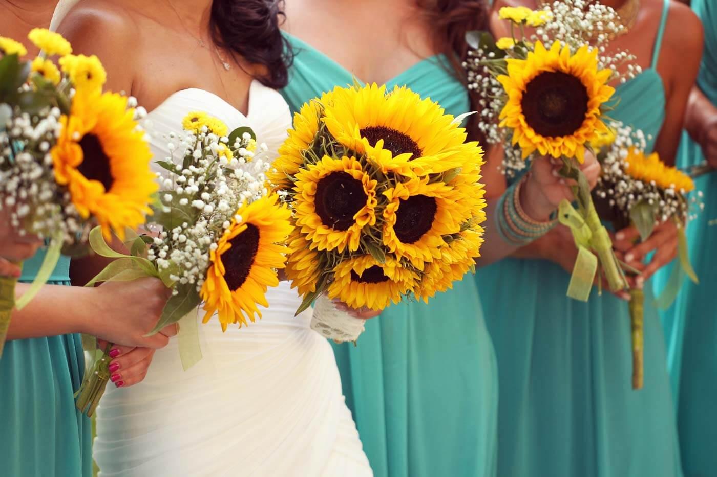 Hochzeitsstrauß Sonnenblumen