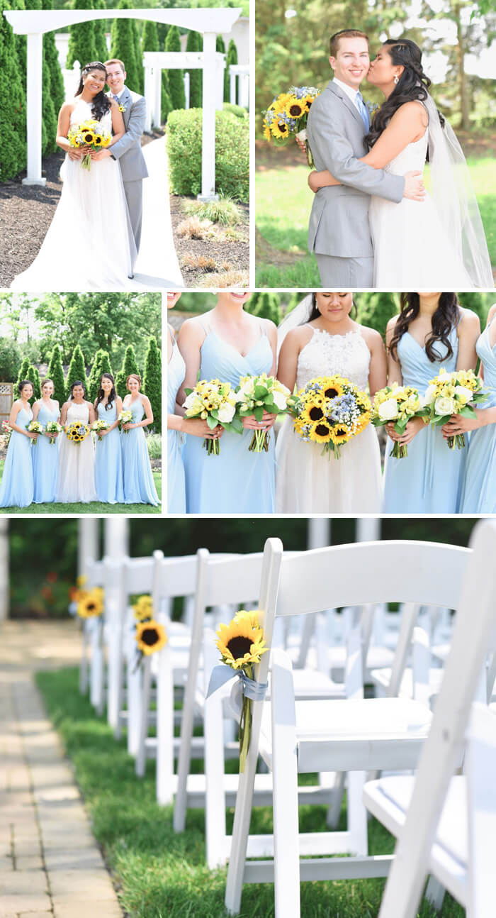 Sonnenblumen Hochzeitsdeko