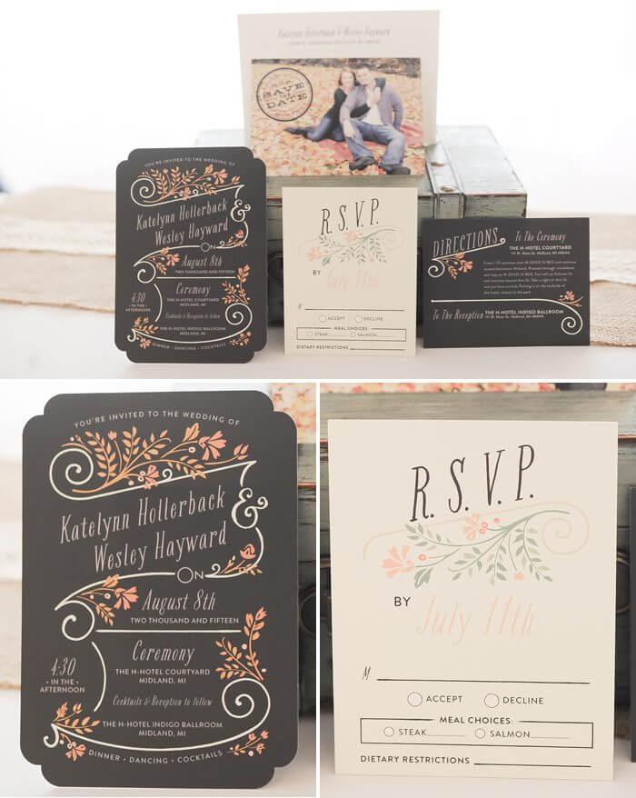 Hochzeit Vintage Einladungskarten