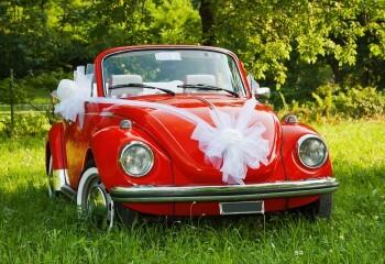 Deko fürs Hochzeitsauto