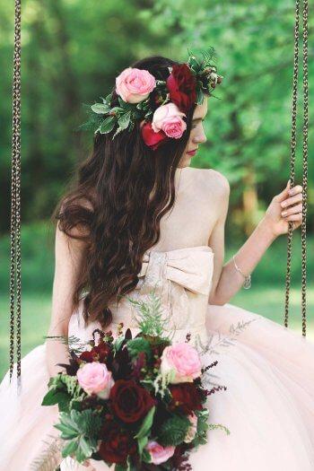 Hochzeitsfrisuren lange Haare offen
