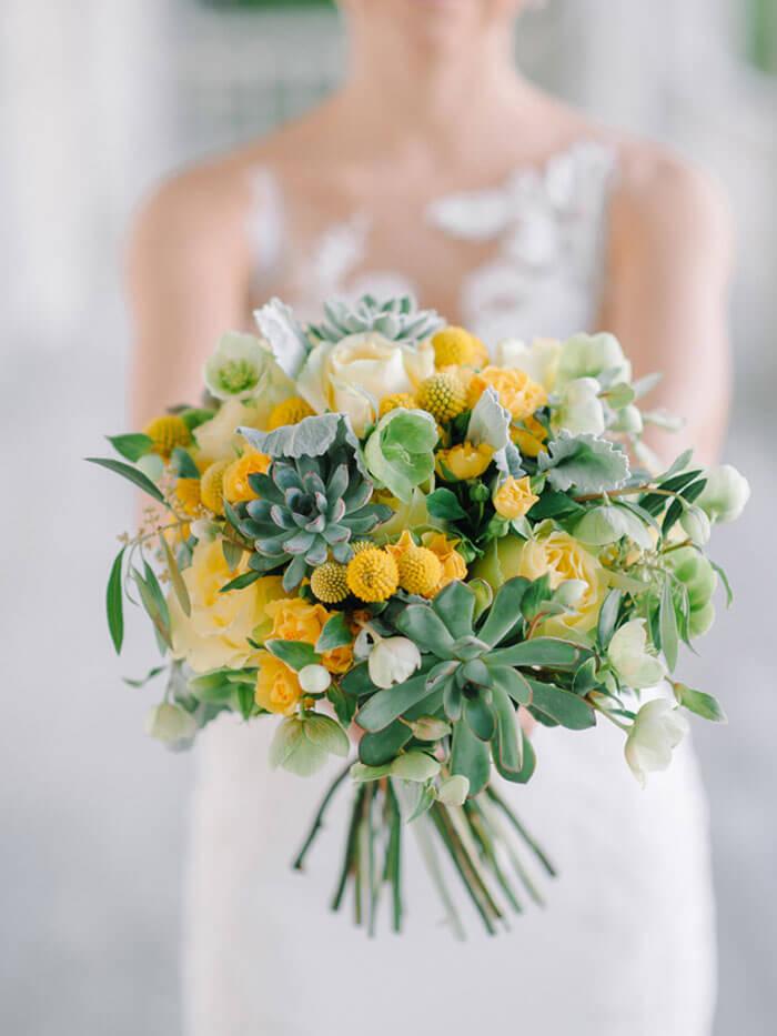 Brautstrauß Gelb
