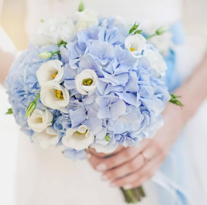 Brautstrauß Hortensie Blau