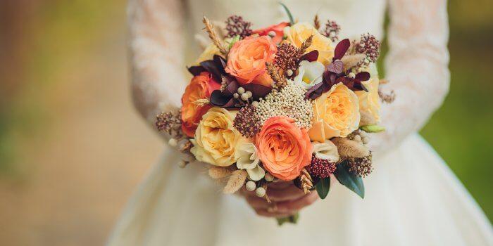 Brautstrauß für Hochzeit im November