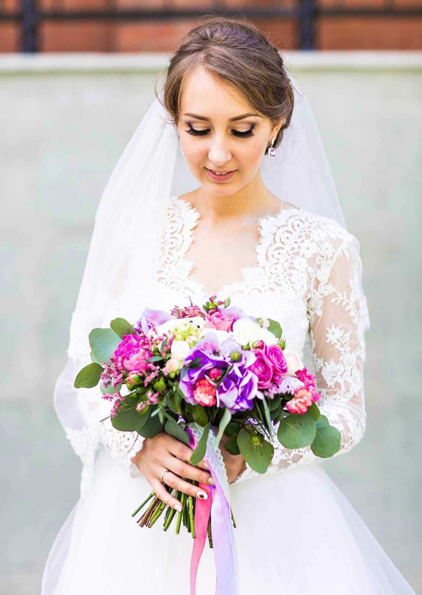 Brautstrauß Pink-Lila