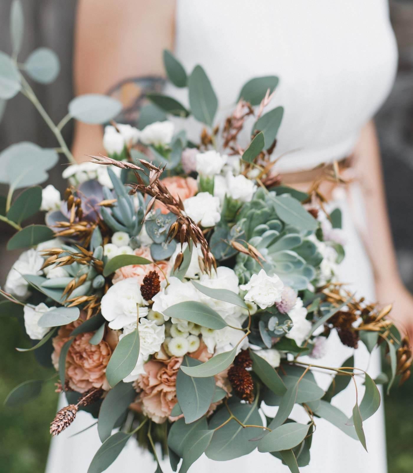 Brautstrauß Rosegold