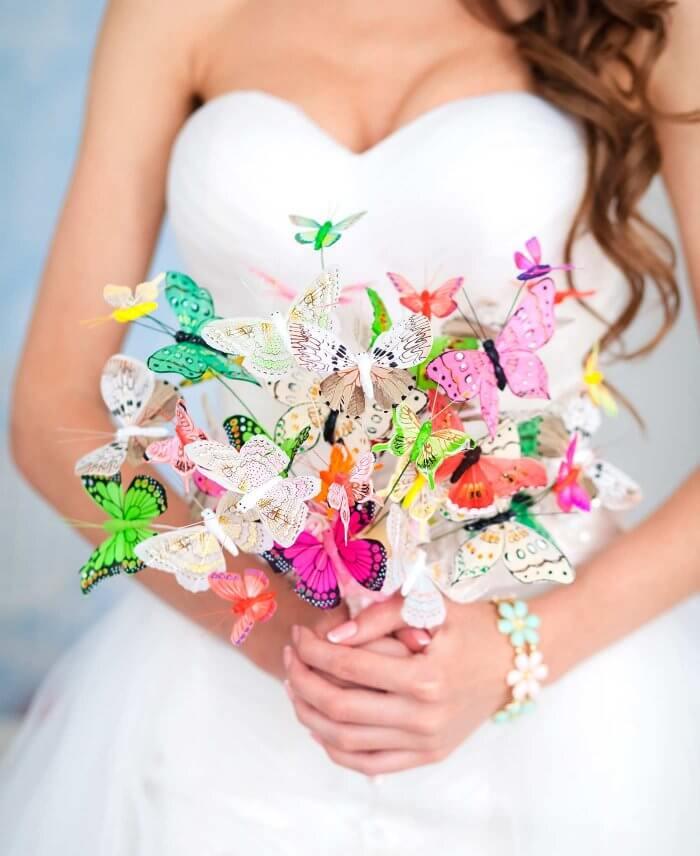 Brautstrauß Schmetterling