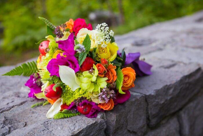 Brautstrauß herbstlich