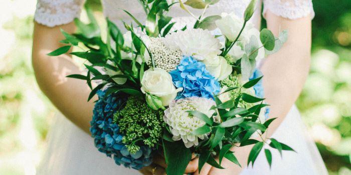 Hochzeitsstrauß Blau