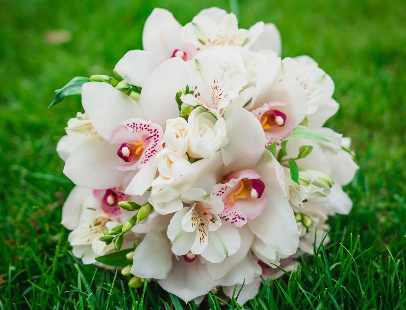 Orchideen-Brautstrauß