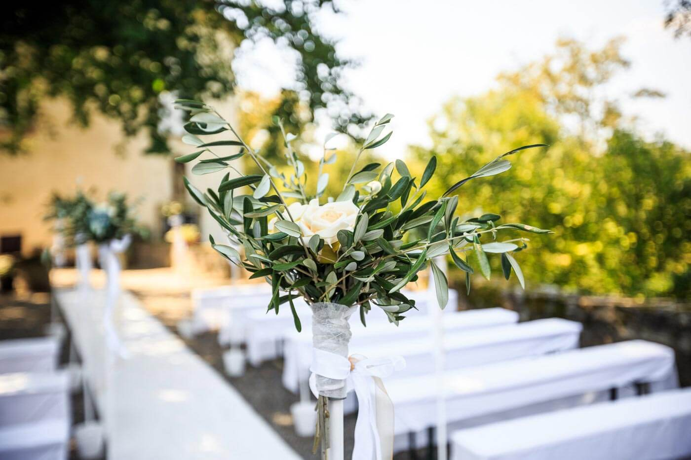 Hochzeitsdeko Greenery