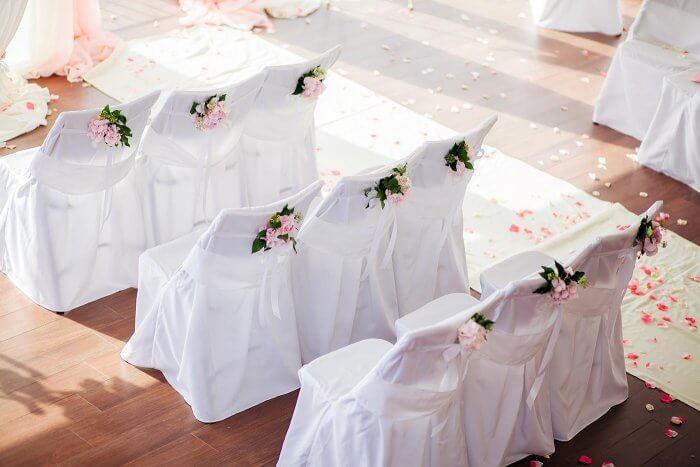 Stuhlhussen Hochzeit Blume
