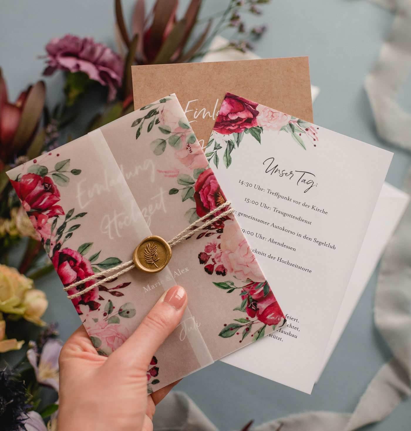 Ausgefallene Hochzeitseinladung