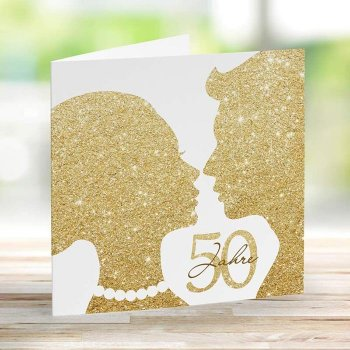 Einladungskarte Goldene Hochzeit