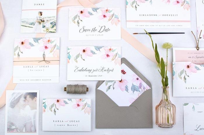Einladungskarten Hochzeit gestalten
