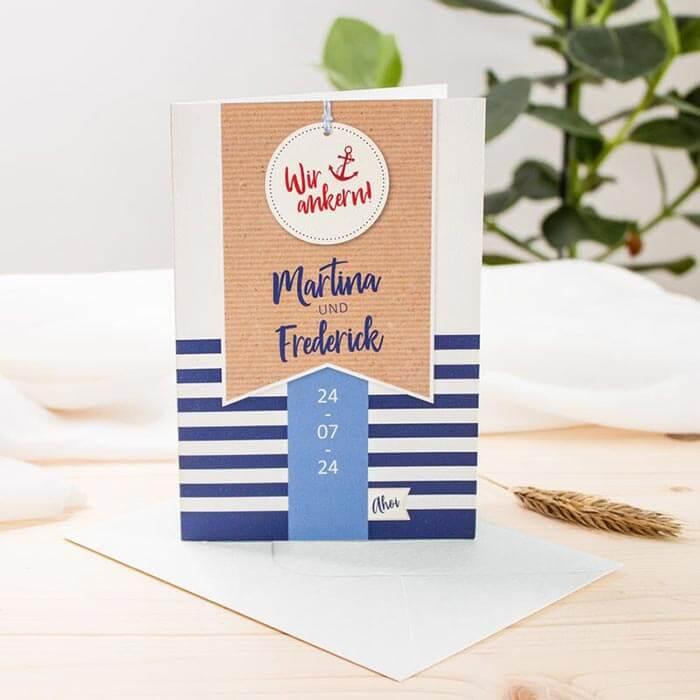 Einladungskarten Hochzeit maritim
