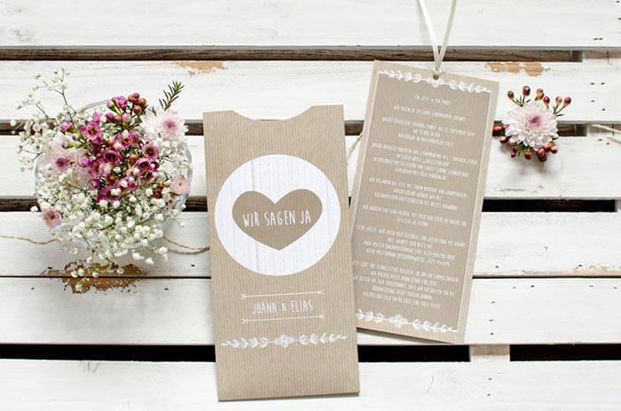 Einladungskarten vintage Hochzeit