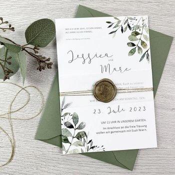Eukalyptus Hochzeitseinladung