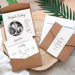Hochzeitseinladung Pocketfold