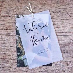 Hochzeitseinladung Transparentpapier