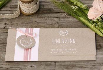 Hochzeitseinladung gestalten