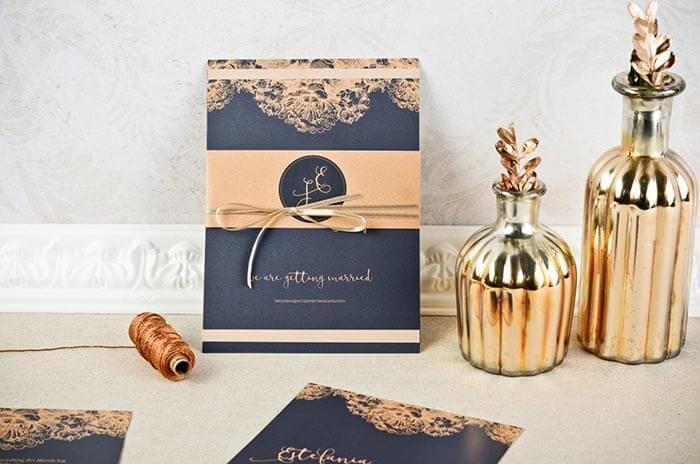 Hochzeitseinladung rosegold