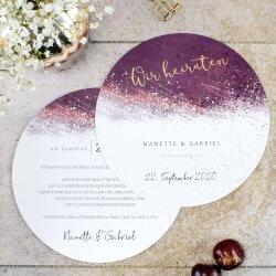 Hochzeitseinladungen lila