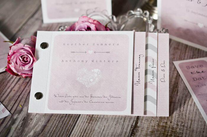 Hochzeitseinladungen selber gestalten