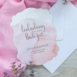 Hochzeitskarte Aquarell