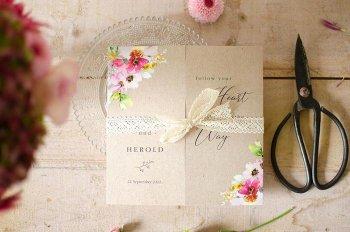 Kraftpapier Hochzeitseinladung