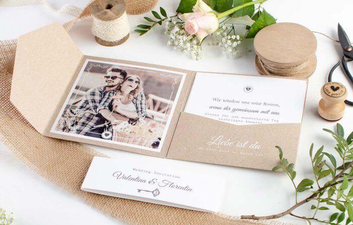 Kreative Hochzeitseinladungen