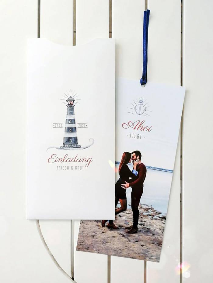 Maritime Hochzeitseinladung