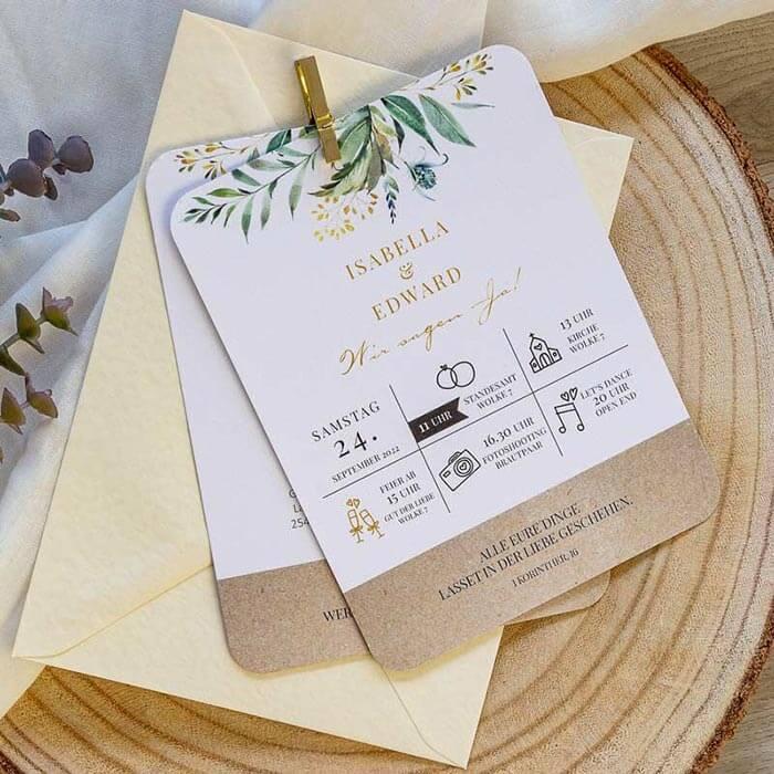Originelle Hochzeitseinladung