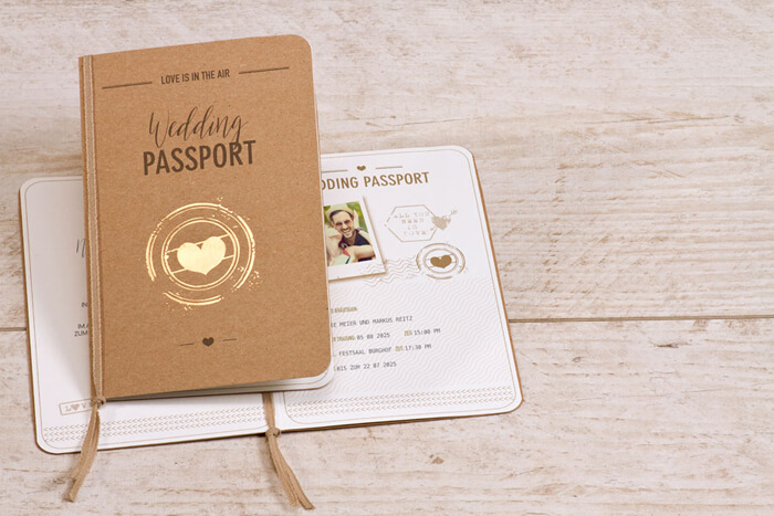 Reisepass Hochzeitseinladung