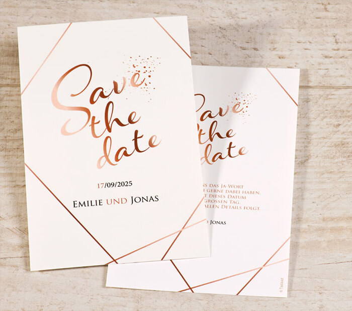 Save the Date Rosegold
